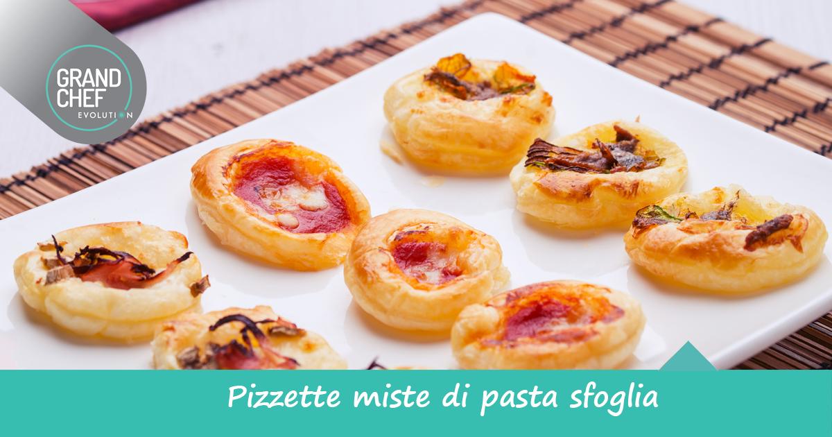 Pizzette con pasta sfoglia da fare in casa grand chef - Cucina evolution ricette ...